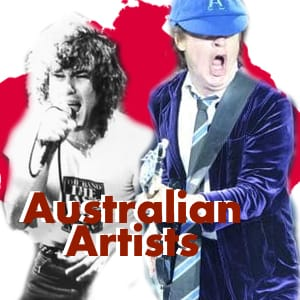 Australian Artists  MIDI File Backing Tracks