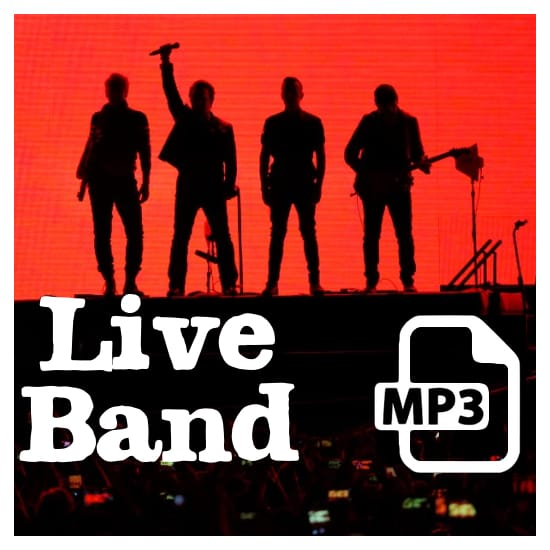 LIVE Band Backing Tracks (MP3 Version) MIDI File Backing Tracks